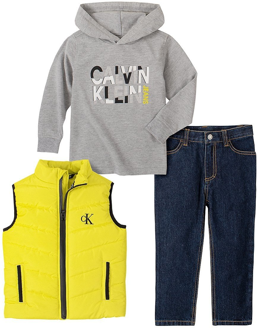 Love This Product Yellow Zip-Up Vest Set - Newborn, Infant, Toddler & Boys