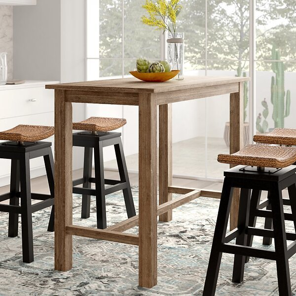 Allister Counter Height Rubberwood Solid Wood Dining Table
