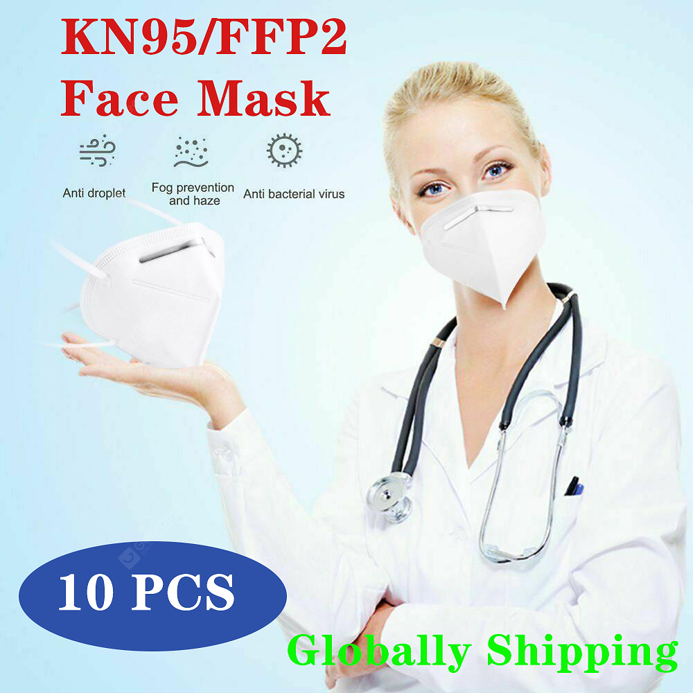 10 PCS KN95 FFP2 Face Mask 5-Layer Nonwoven Disposable Mouth Breathable Ordinary Non-Nedical Masks Sale, Price & Reviews | Gearbest
