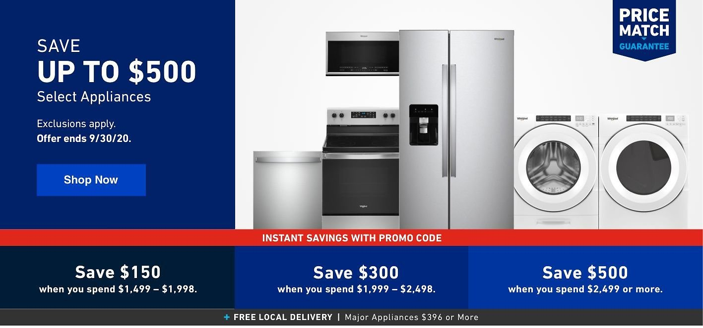 Up To $500 Off Select Appliances - Lowes