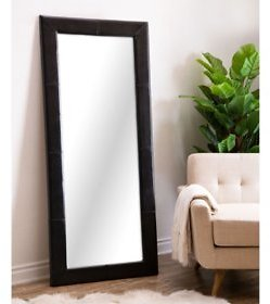 Emma Full-Length Floor Mirror, Leather Frame (Assorted Colors) - Sam's Club