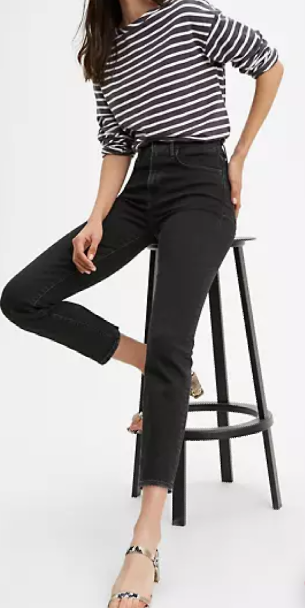 724 High Rise Straight Crop Women's Jeans - Black | Levi's® US