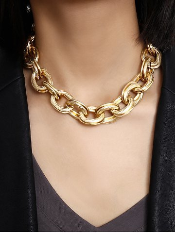 Punk Layers Thick Chain Necklace