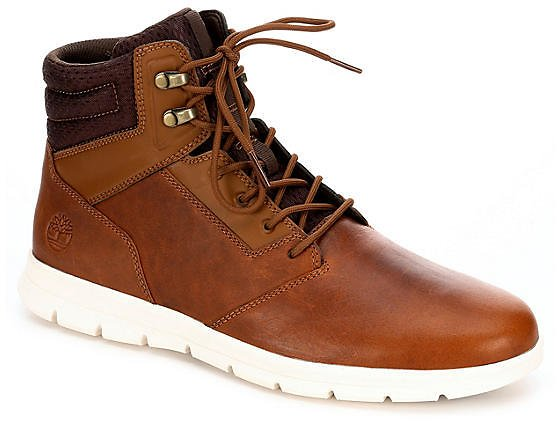DARK TAN TIMBERLAND Mens Graydon Water Resistant Casual Boot