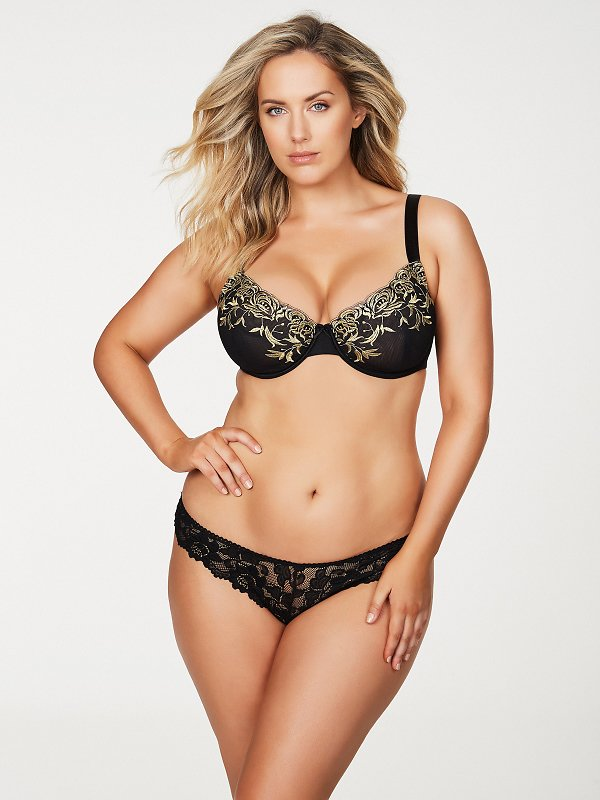 Daphne Embroidered Full Figure Plus Size Bra FINAL CLEARANCE