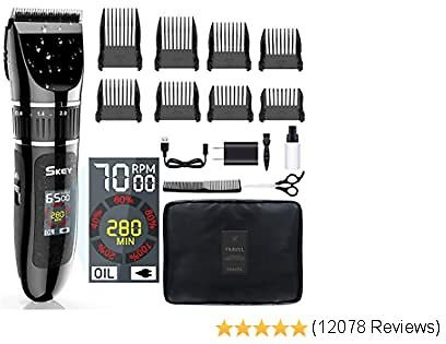 Beard Trimmer Cordless Haircut Kit with Titanium & Ceramic Waterproof Blades for Wet/Dry Cut,