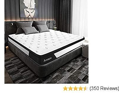 Full Mattress, Avenco Hybrid Mattress Full Size, 10 Inch Innerspring and Gel Memory Foam Mattress in a Box Full, with CertiPUR-US Foam for Supportive, Pressure Relief & Cooler, 10 Years Support