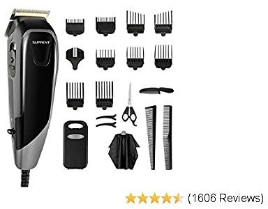 Hair Clippers SUPRENT Corded Hair Clippers for Men, 21-piece Hair Cutting Kit