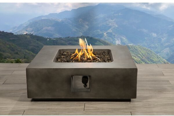 Grice Concrete Propane/Natural Gas Gas Fire Pit Table
