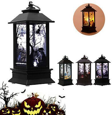 LED Halloween Vintage Lantern Candle Light Party Hanging Decor Lamp Nightlight