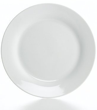 The Cellar Whiteware Rim Dinner Plate, Created for Macy's & Reviews - Dinnerware - Dining