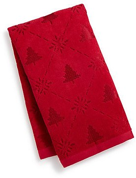 Martha Stewart Collection CLOSEOUT! Snow Tree Cotton Hand Towel, Created for Macy's & Reviews - Bath Towels - Bed & Bath