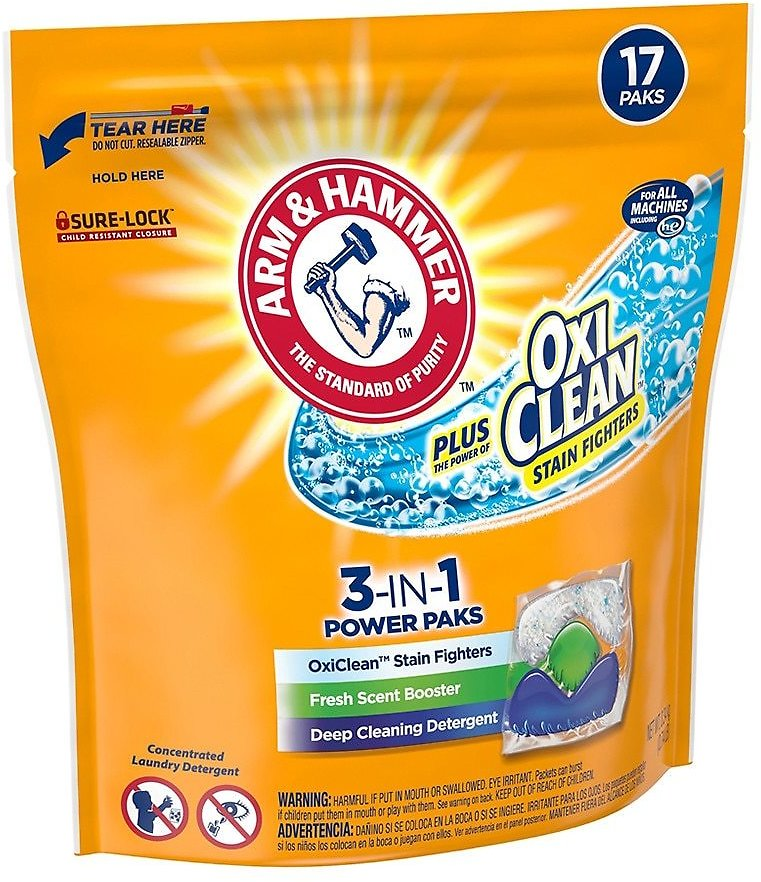 Plus OxiClean 3-in-1 Power Paks - Single Use Laundry Detergent, 17 Count0.7oz X 17 Pack