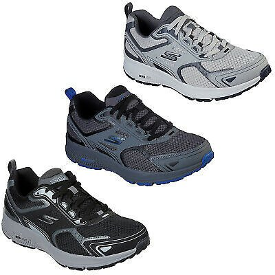 Skechers Mens GORun Trainers Consistent Gym Running Training Leather Mesh Shoes