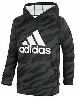 New Big Kids Boys Adidas Athletic Gym Hoodie Hooded Sweatshirt Top Youth Camo