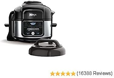 Ninja OS101 Foodi 9-in-1 Pressure Cooker and Air Fryer with Nesting Broil Rack, 5-Quart Capacity, and a Stainless Steel Finish