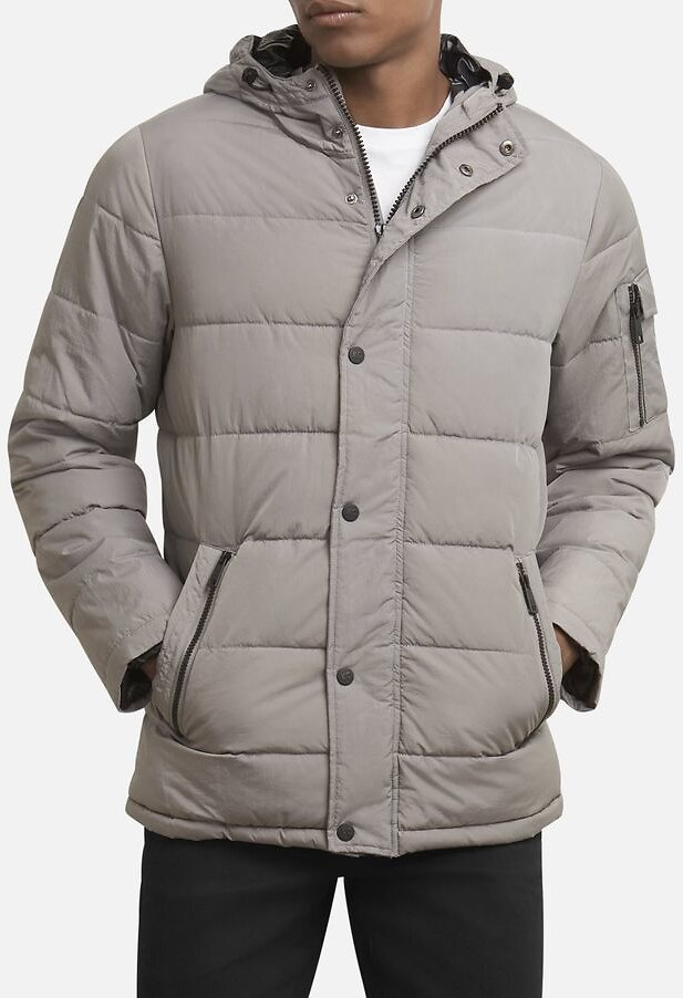 Hooded Channel Quilted Coat