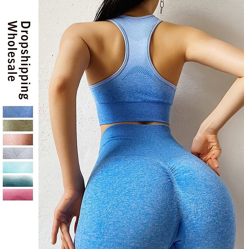 Sport Suit Woman Seamless Running Tracksuit Sportswear Gym Crop Top Gym Pant Fitness Clothes Workout Leggings Fitness Set