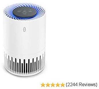 TaoTronics Purifier for Home, Allergens Smoke Pollen Pets Hair, Desktop Air Cleaner with True HEPA Filter