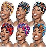 SATINIOR 4 Pieces African Pattern Headwrap Pre-Tied Bonnet Turban Knot Beanie Cap Hat (Flower) At Amazon Women's Clothing Store