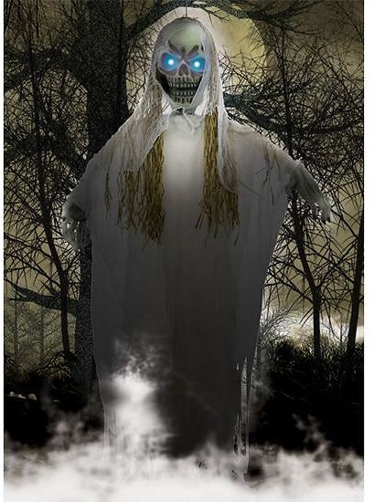 10-Foot White Grey Reaper with LED Eyes
