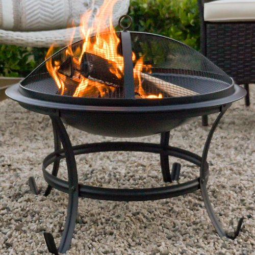 Best-Choice-Products-22in-Steel-Outdoor-Fire-Pit-Bowl-BBQ-Grill-w-Screen-Cover +F/S