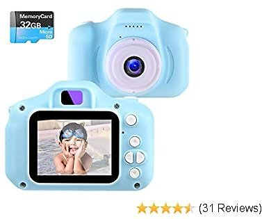 NINE CUBE ,Toddler Video Recorder 2 Inch 1080P Birthday Gifts for 3 4 5 6 7 8 9 10 Year Old Kids (32G SD Card Included