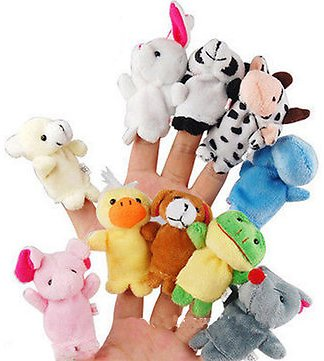 Family Finger Puppets Soft Cloth Animal Doll Baby Hand Toys For Kid Children Educational GiftDolls & Stuffed ToysfromToys Hobbies and Roboton Banggood.com