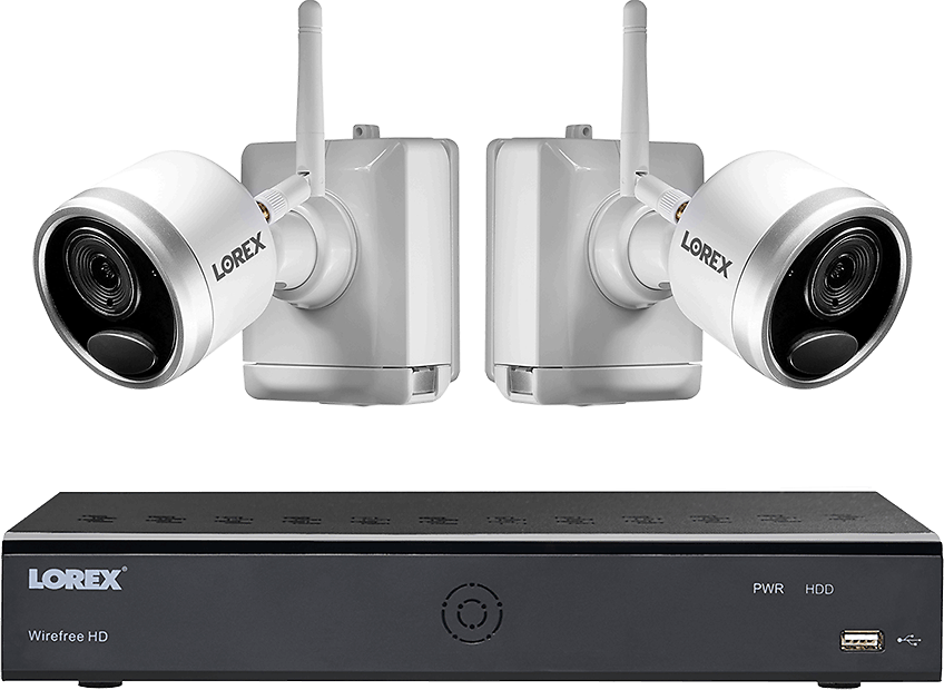 1080p Wire Free Camera System with Two Battery-Powered Cameras, 65ft Night Vision, Two-Way Audio, and a 1TB Hard Drive