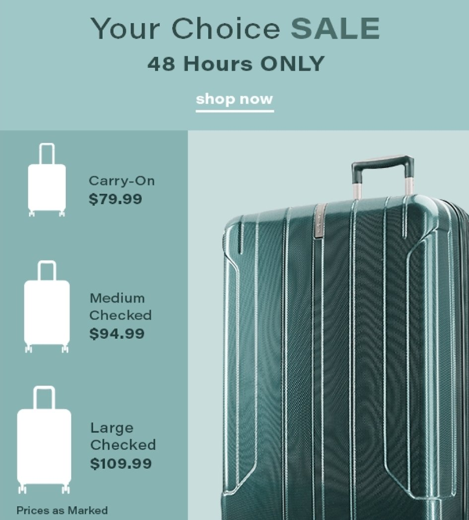 Your Choice Sale Is Back - Samsonite