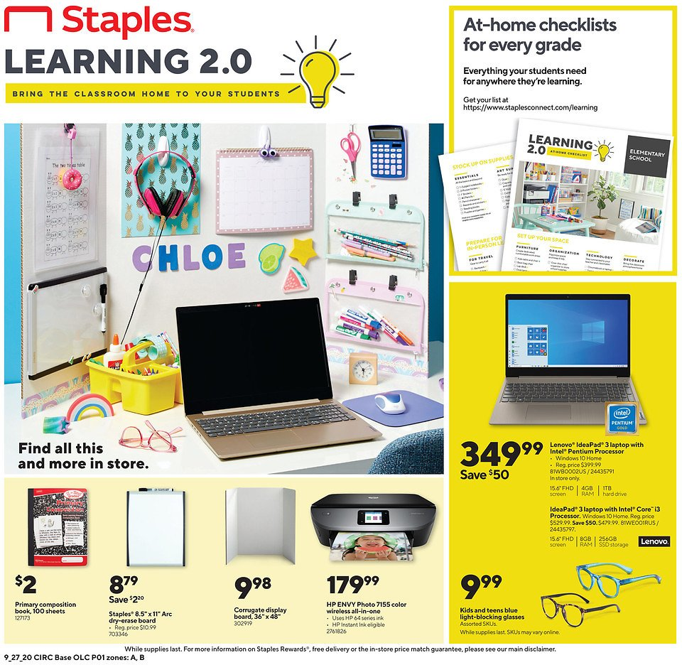 Staples Ad 9/27 - 10/3
