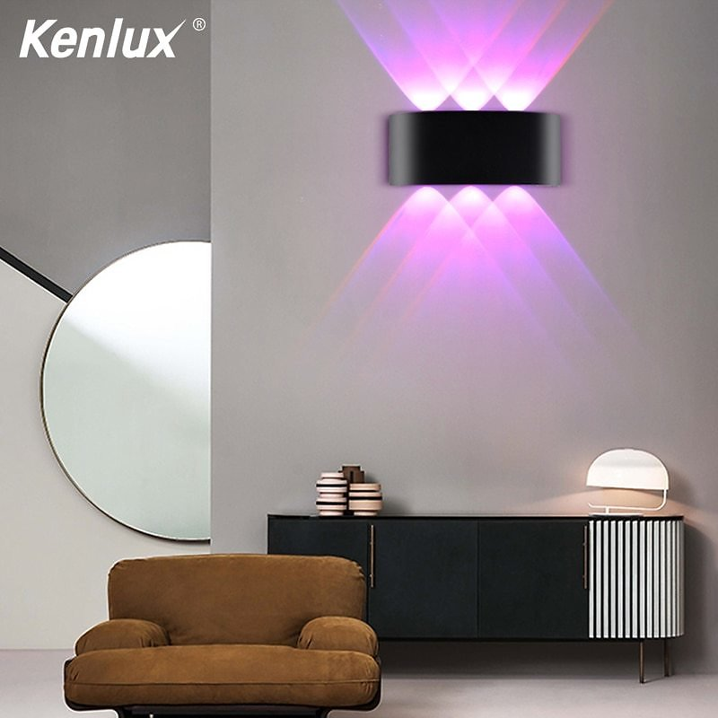Modern Up Down Led Wall Light AC85 265V High Quality Colourful Wall Lamp Shop Bar Restroom Bedroom Reading Home Decoration