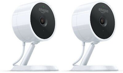 2 Pack Amazon Cloud Cam 1080p Indoor WiFi Security Camera with Night Vision