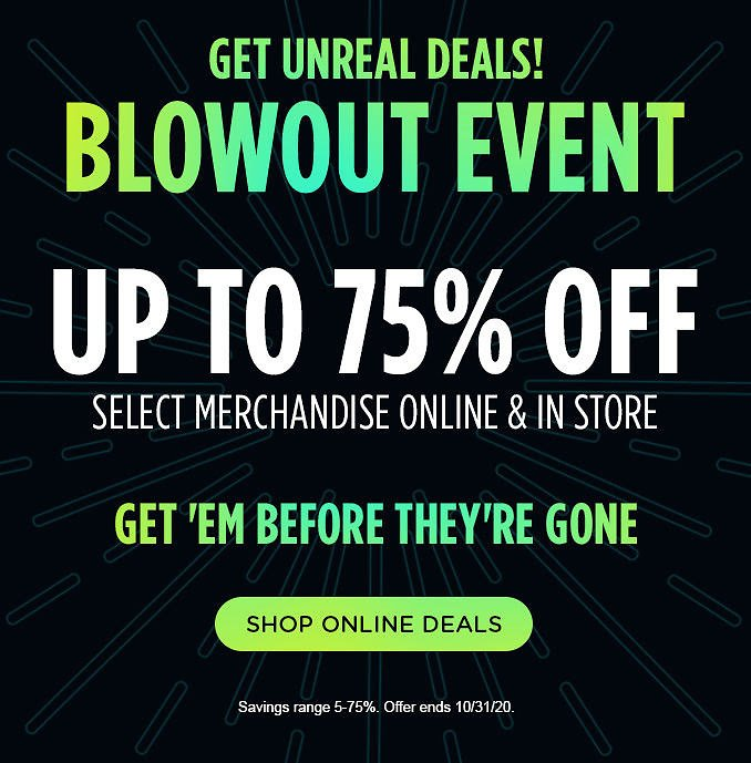 Up To 75% Off Blowout Event Sale - Sears
