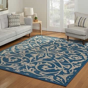 Encore Hand Carved Area Rugs, Cormack Blue