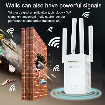 1200Mbps 2.4G Wifi Range Extender Repeater Router Four Antenna Signal Booster