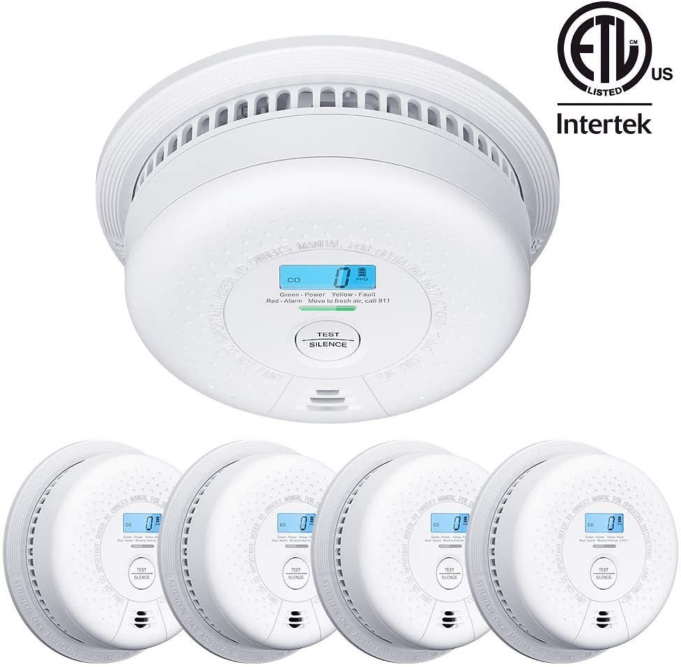 X-Sense SC01 10 Year Battery (Not Hardwired) Smoke and Carbon Monoxide Detector with Display, Dual Sensor Smoke CO Alarm Complie