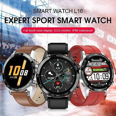 L16 Smart Watch Fitness Tracker ECG PPG Blood Pressure Heart Rate Monitor