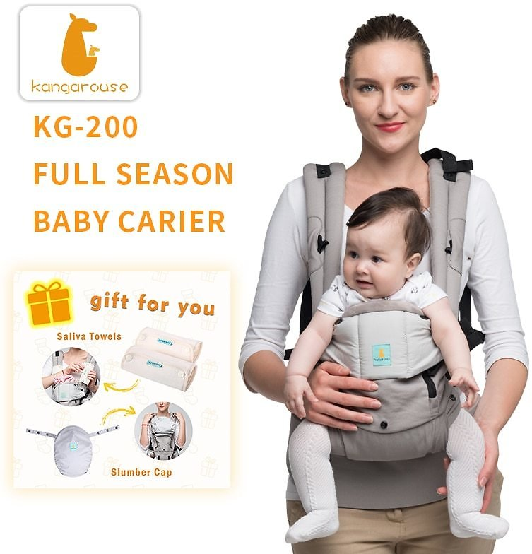 US $23.59 45% OFF|Kangarouse Full Season Cotton Ergonomic Baby Carrier Baby Sling for Newborn to 36 Month KG 200|Backpacks & Carriers| - AliExpress