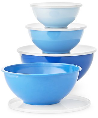 Martha Stewart Collection 8-Pc. Blue Melamine Food Storage Bowl Set, Created for Macy's