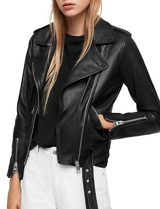 ALLSAINTS Balfern Leather Biker Jacket Women - Bloomingdale's