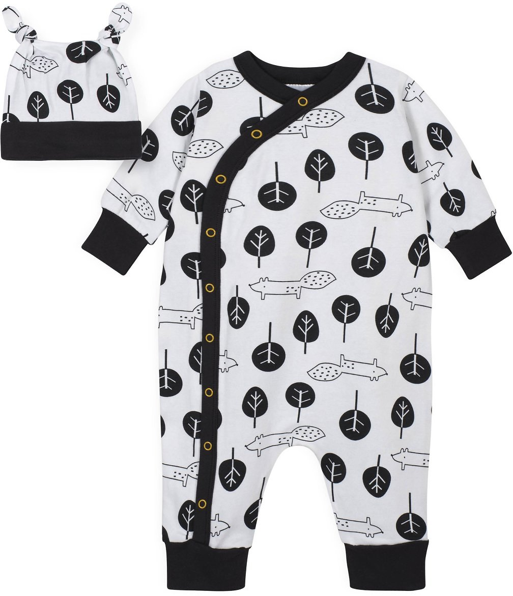 Gerber® 2-Piece Baby Boys Squirrel Coverall and Cap Set