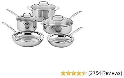 Branded Cuisinart Classic Stainless Steel Cookware Set (8-Piece)