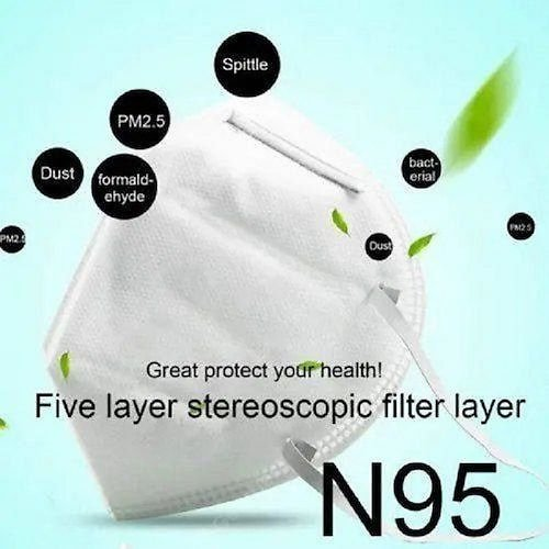 N95 KN95 Face Mask CE FDA Certified Dustproof and Anti-fog Breathable Non-Medical Mask