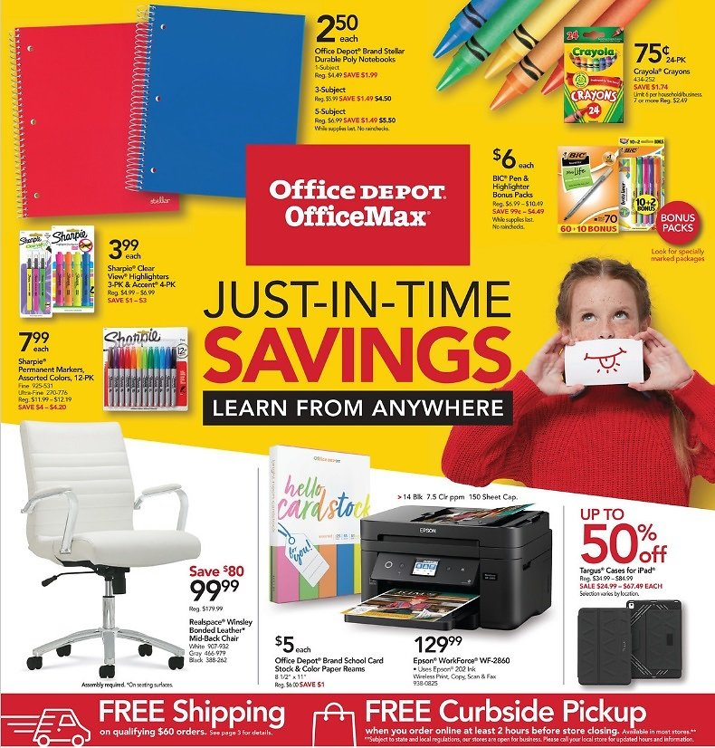 Office Depot Weekly Ad (09/27)