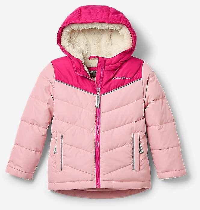 Toddler Girls' Classic Down Hooded Jacket (2 Colors)