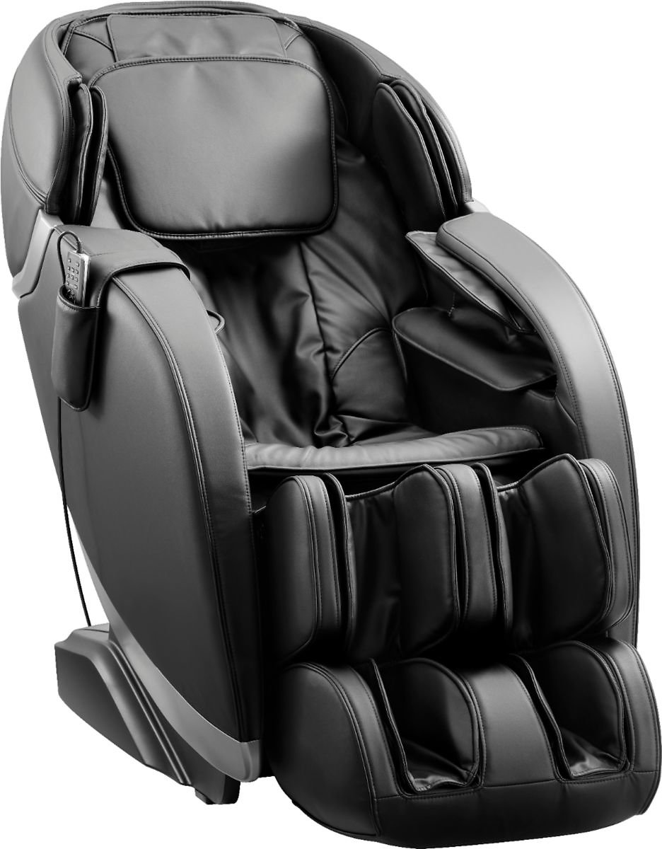 Insignia™ Zero Gravity Full Body Massage Chair Black with Silver Trim NS-MGC300BK1