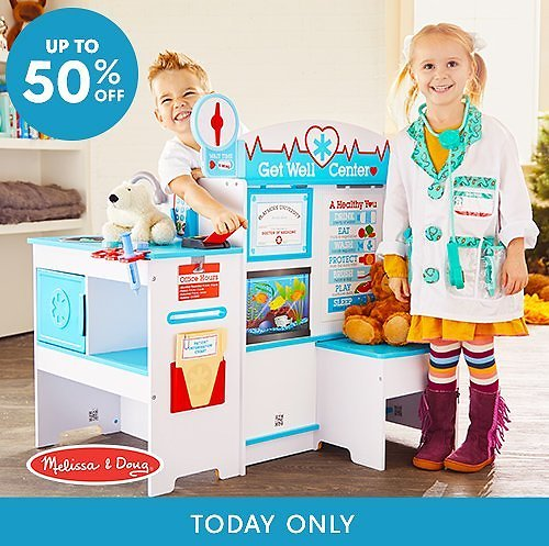 Melissa & Doug Playsets Up to 50% Off (Grocery Store, Restaurant, Car Carrier)