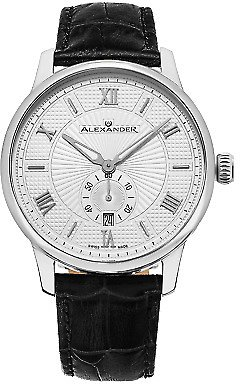 Alexander Swiss Made Mens A102-01 Designer Watch Sapphire Crystal Leather Strap 190638003136