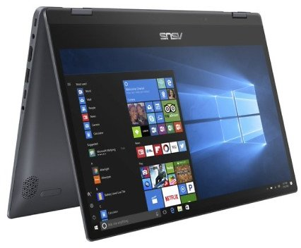 Asus Vivobook Flip 14-in Touch Laptop w/Core i3, 128GB SSD
